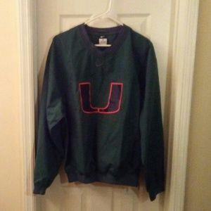 Nike University of Miami Pullover Sz Small